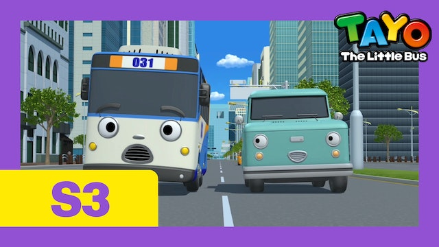 Tayo the Little Bus S3 EP13 - Cooku & Champ's Trip to the City