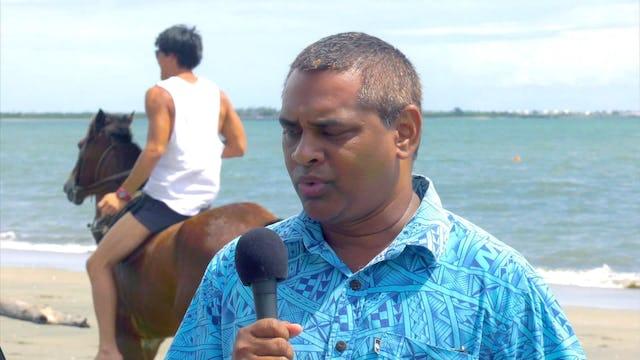 Matt & Laurie Crouch host Atu & Raijela Vulaono and Stanley Simpson from Fiji