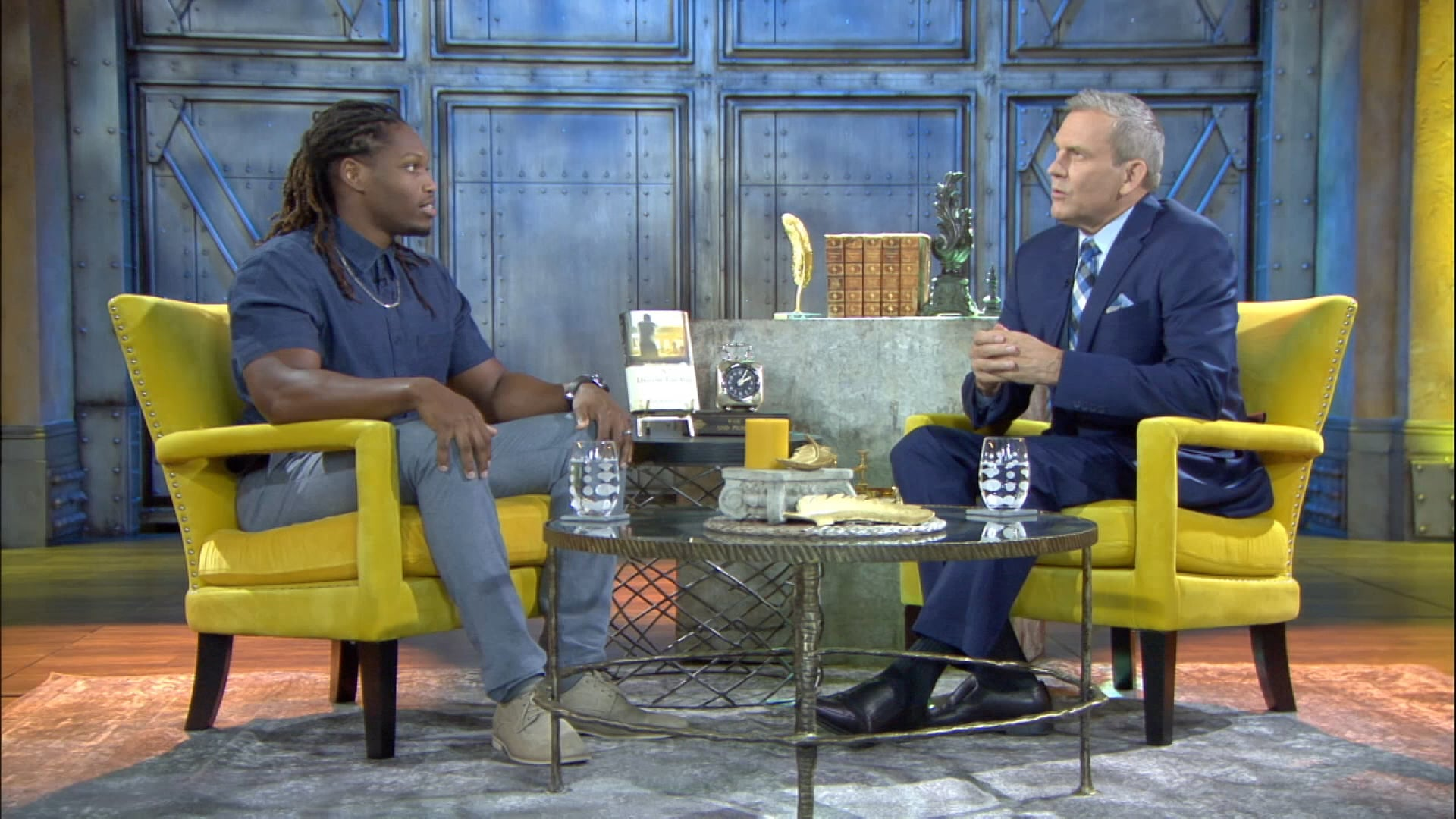 Tom Newman hosts Caylin Moore from Los Angeles, CA