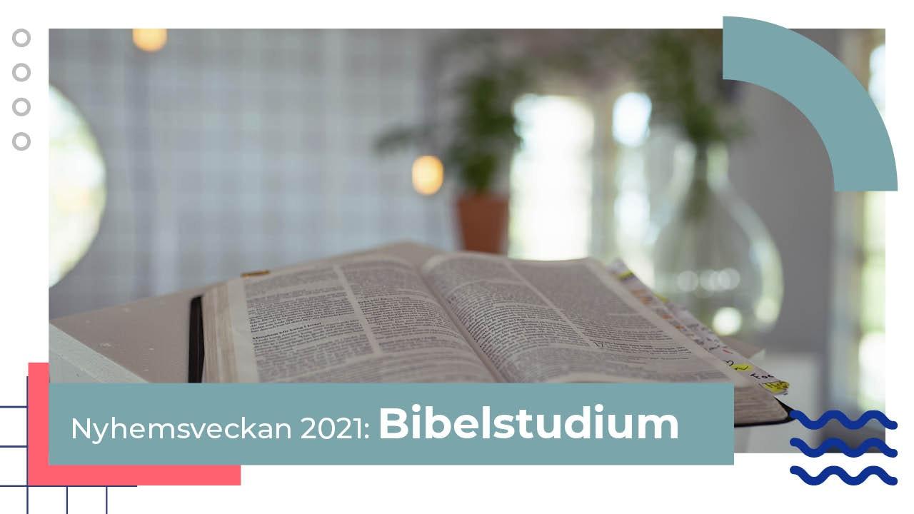 Bibelstudier Nyhemsveckan 2021