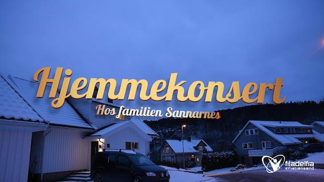 Hjemmekonsert hos familien Sannarnes
