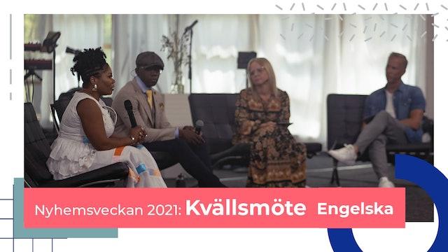 Kvällsmöten Engelska Nyhemsveckan 2021