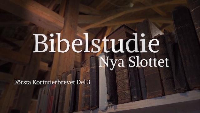 Första Korinthierbrevet del 3 | Bibelstudie Nya Slottet