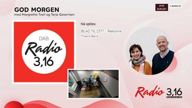 Radio 3,16 | 30 september 2021 - God Morgen med Margrethe og Terje