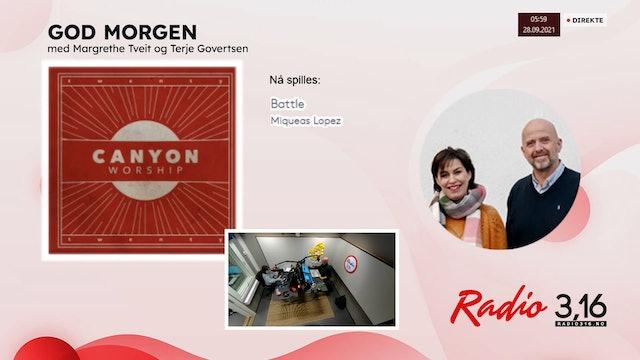 Radio 3,16 | 28 september 2021 - God Morgen med Margrethe og Terje