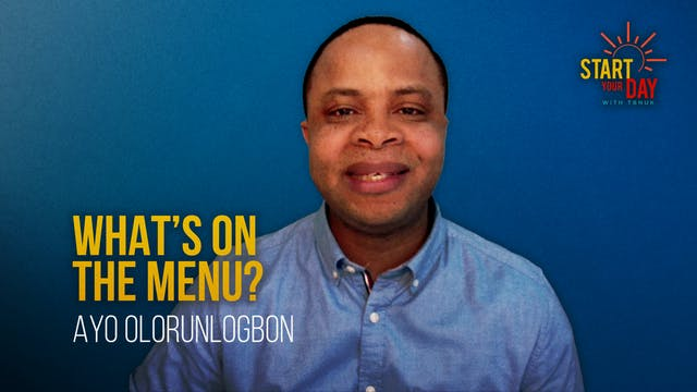 What's on the Menu? with Ayo Olorunlo...