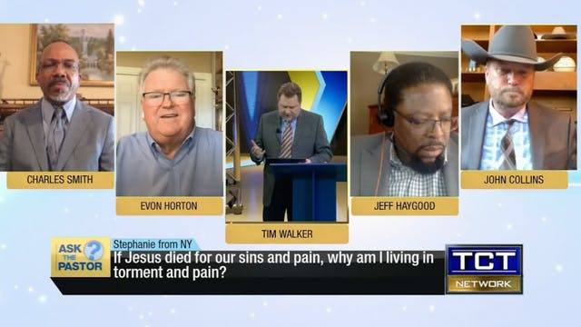 """If Jesus died for our sins and pain,..."