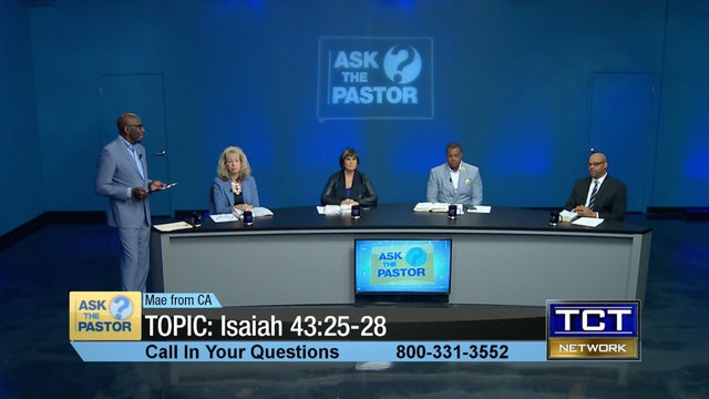 TOPIC: Isaiah 43:25-28 | Ask the Pastor