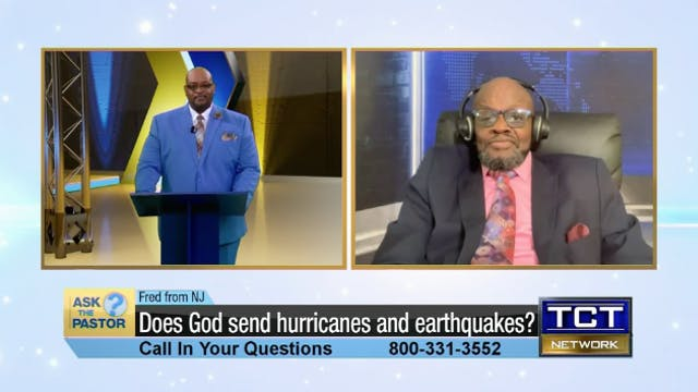 """Does God send hurricanes and earthqu..."