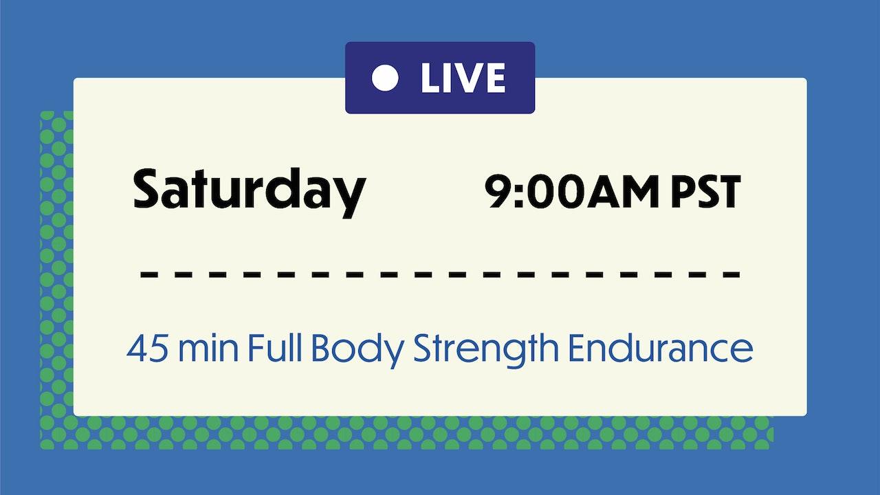 SATURDAY: 45 Min Full Body Conditioning