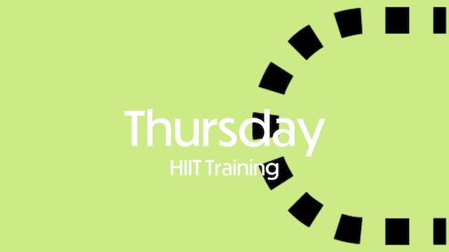 THURSDAY: HIIT