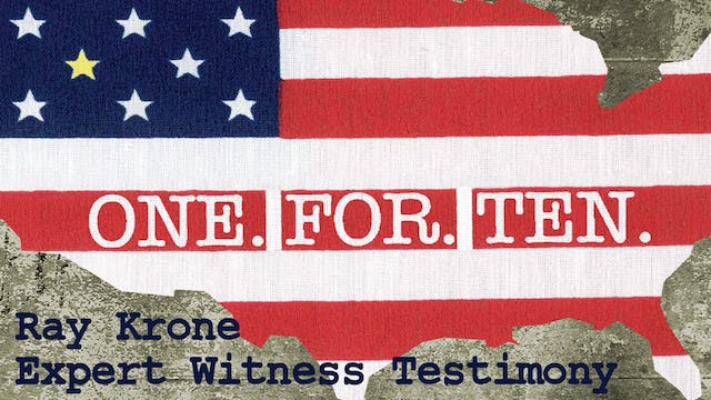One For Ten - Ray Krone: Expert Witness Testimony