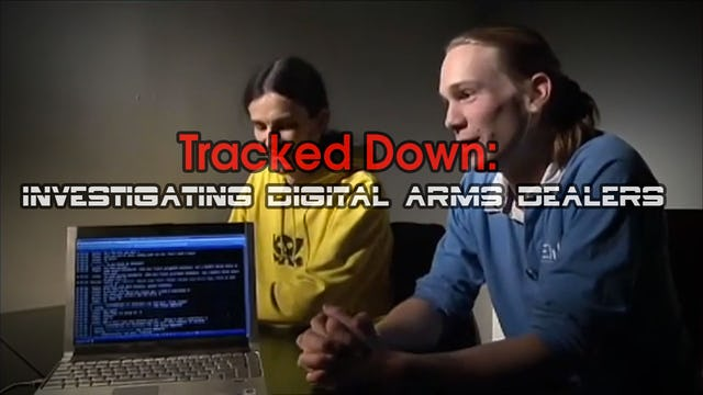 Tracked Down: Investigating Digital Arms Dealers