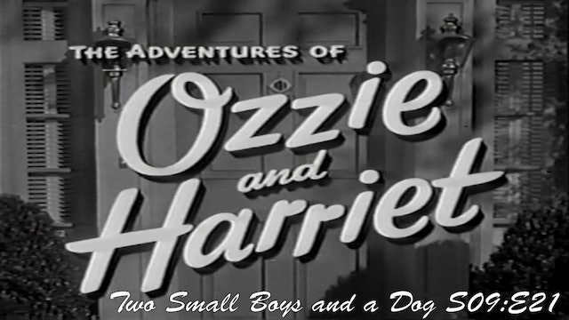 "Ozzie & Harriet ""Two Small Boys and a Dog"""