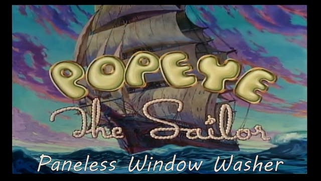 "Popeye the Sailor Man ""Paneless Windo..."