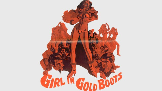 Girl in Gold Boots