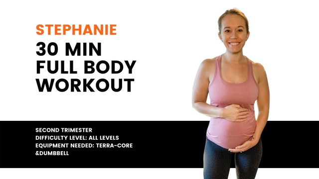 All Levels Full Body (2nd Trimester) Workout (30mins)
