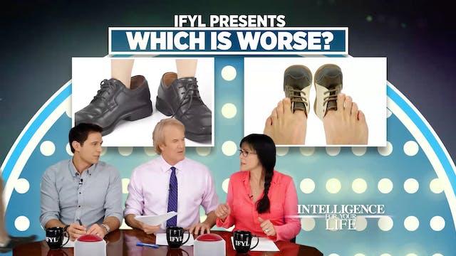 Which Is Worse? Shoe Size & Peanut Bu...