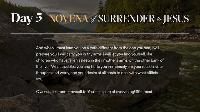 Day 5 - Novena of Surrender to Jesus