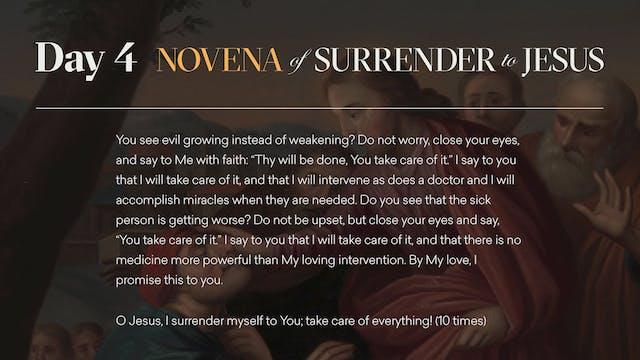 Day 4 - Novena of Surrender to Jesus
