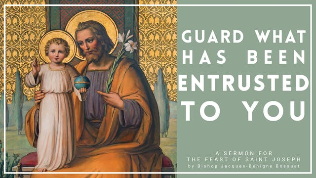 Guard What Has Been Entrusted To You ...
