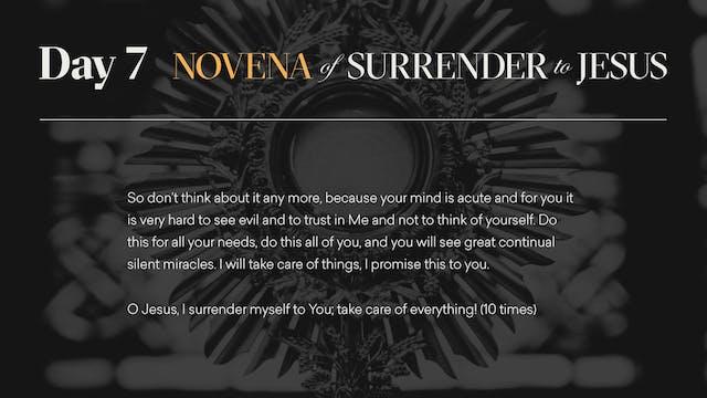 Day 7 - Novena of Surrender to Jesus