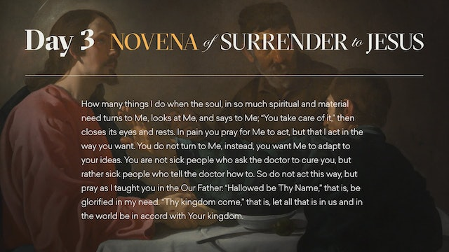 Day 3 - Novena of Surrender to Jesus