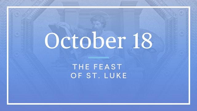 October 18 — St. Luke