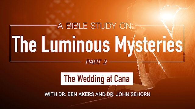 A Bible Study on the Luminous Mysteries: The Wedding at Cana (Part 2 of 5)