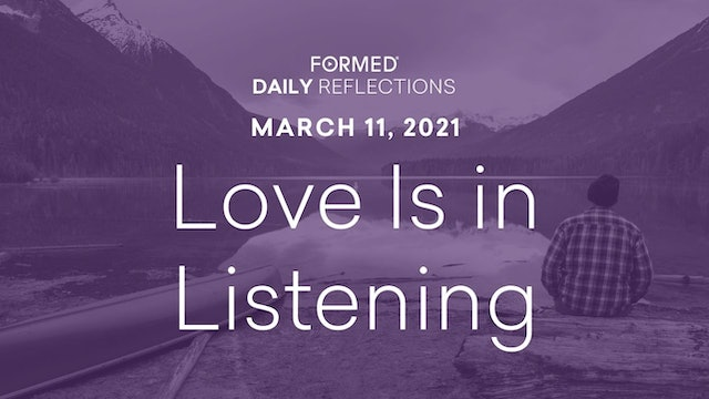 Lenten Daily Reflections – March 11, 2021