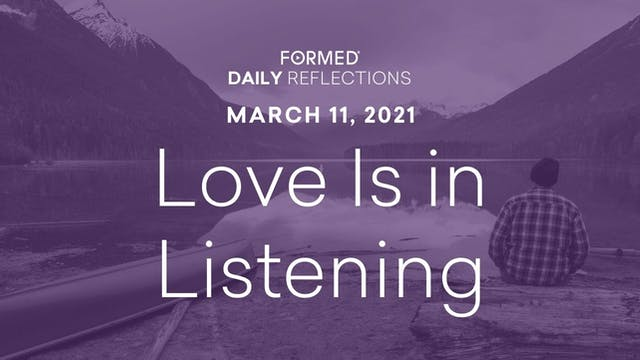 Lenten Daily Reflections – March 11, ...