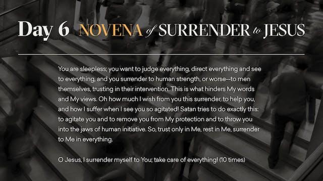 Day 6 - Novena of Surrender to Jesus