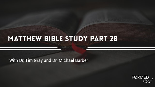 Bible Study: The Gospel of Matthew (Part 28)