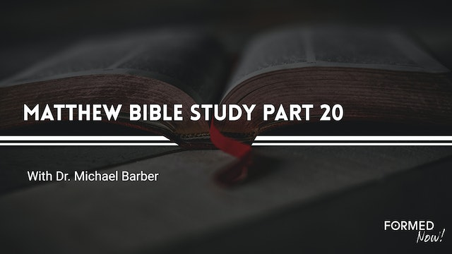 Bible Study: The Gospel of Matthew (Part 20) 14:22-15:9