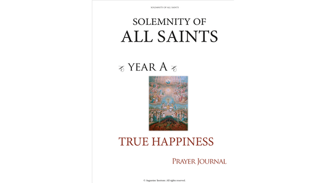 Solemnity of All Saints — Year A Prayer Journal