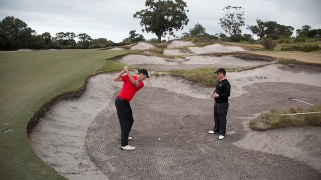 Shot Shaping Mastery Video Series - Video 3 - How To Hit a 3 Wood Out of A Bunker