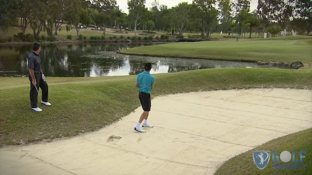 How To Hit Out of A Bunker Over Water To an Island Green