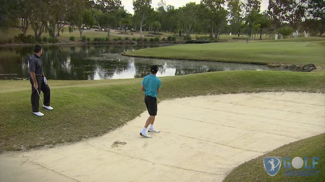 How To Hit Out of A Bunker Over Water...