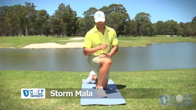 The Kneeling Calf Stretch for Golf
