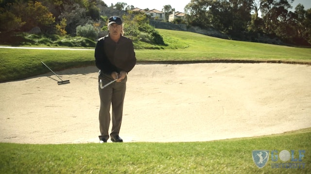 How to Hit Out of A Bunker with the Ball Above Your Feet