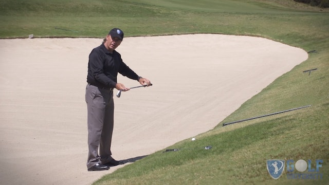 How To Hit a Ball Outside a Bunker When Your Feet Are In The Bunker