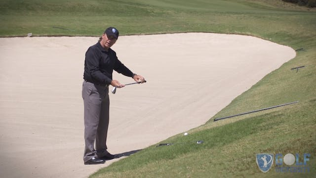 How To Hit a Ball Outside a Bunker Wh...