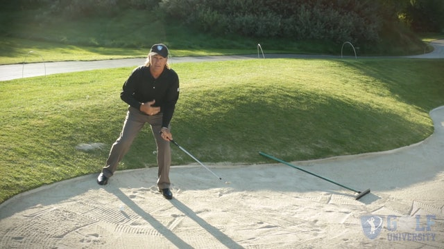 How to Hit Off A Downslope in a Bunker