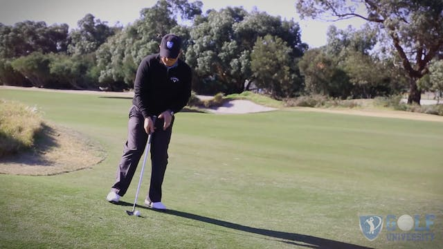 How To Pitch From A Downhill lie