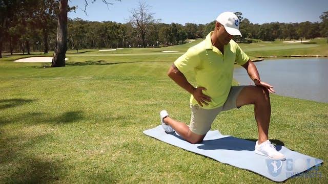The Kneeling Hip Flexor Stretch for Golf