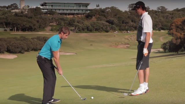 How to Hit a Golf Ball Off a Sidehill...