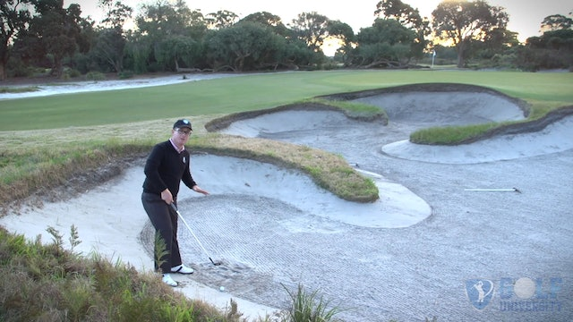 How To Hit Out Off A Downslope In A Bunker