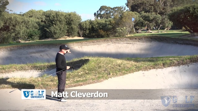 How To Hit Out Of A Bunker Over Another Bunker