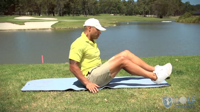 The Lying Twists for Lower Back Stretch for Golf