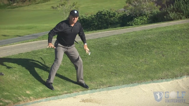 How to Hit Out of A Bunker When Your Feet Are Outside the Bunkers